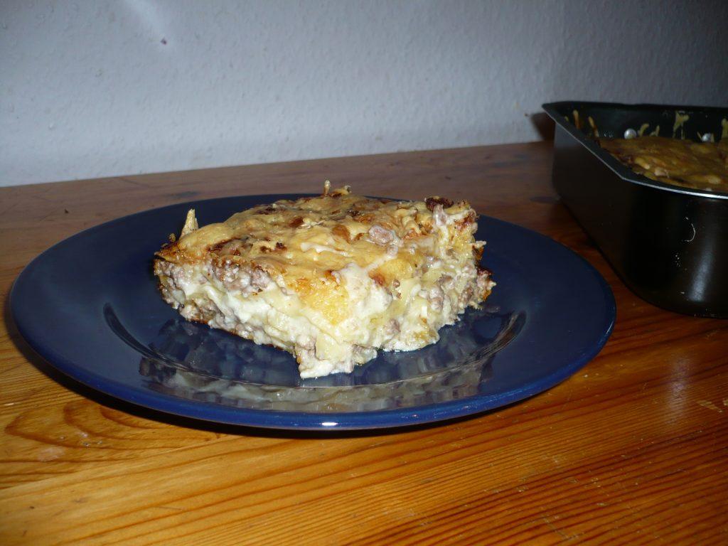 Lasagnes au fromage de chèvre et au miel