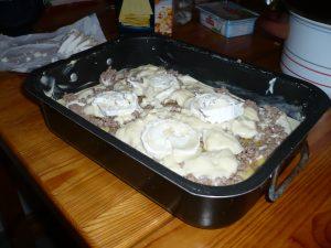 Préparation Lasagnes au fromage de chèvre et miel